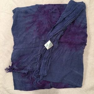 Other - Sarong tie dyed wrap cover-up in blue/purple